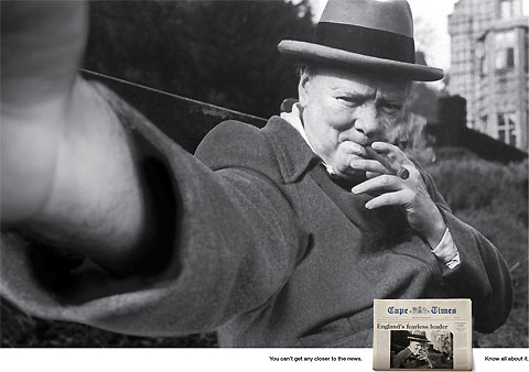 Churchill Cape Times Famous photos turned into self portraits
