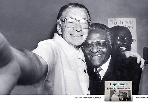 Tutu Cape Times Famous photos turned into self portraits