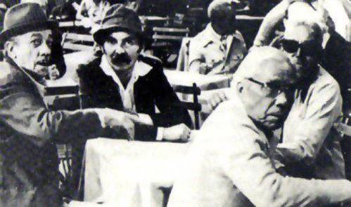 Adoniran Barbosa, Billy Blanco, Cartola e Nelson Cavaquinho.