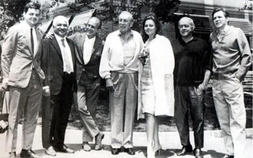 João Luiz Albuquerque, Dorival Caymmi, Aloysio de Oliveira, Walt Disney, Norma Bengell, Vinícius de Moraes e Antonio Carlos Jobim.