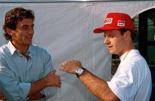 Ayrton Senna e Rubens Barrichello.