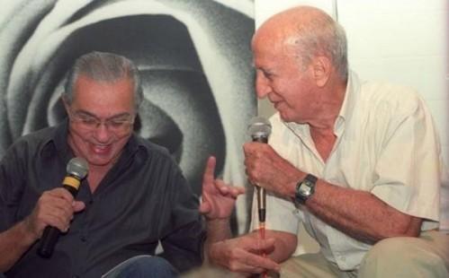 Chico Anysio e Millôr Fernandes.