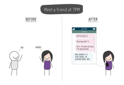 Encontrando um amigo às 19h